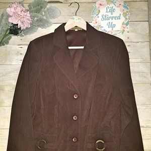 Notations Suede Feel XL Brown Blazer Jacket